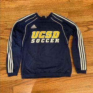 UCSD Navy Blue Adidas Long-Sleeve Soccer Shirt